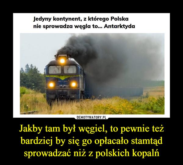 Jakby tam był węgiel, to pewnie też bardziej by się go opłacało stamtąd sprowadzać niż z polskich kopalń –