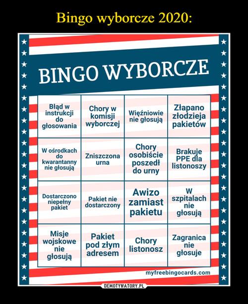 Bingo wyborcze 2020: