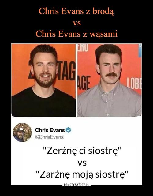 Chris Evans z brodą vs Chris Evans z wąsami