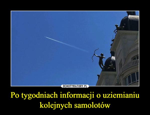 Po tygodniach informacji o uziemianiu kolejnych samolotów –
