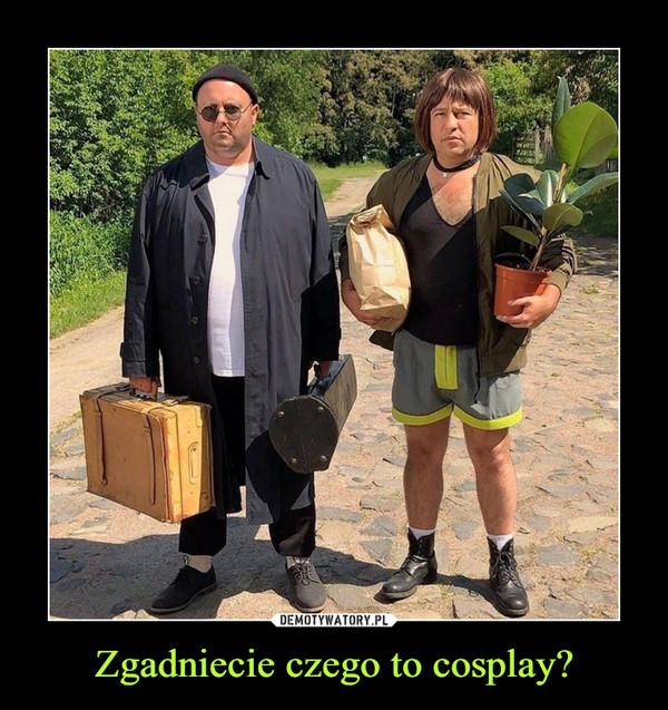 Zgadniecie czego to cosplay? –