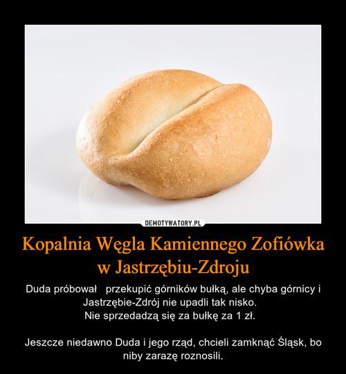 Kopalnia Węgla Kamiennego Zofiówka w Jastrzębiu-Zdroju