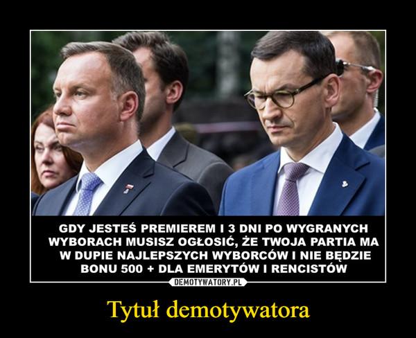Tytuł demotywatora –