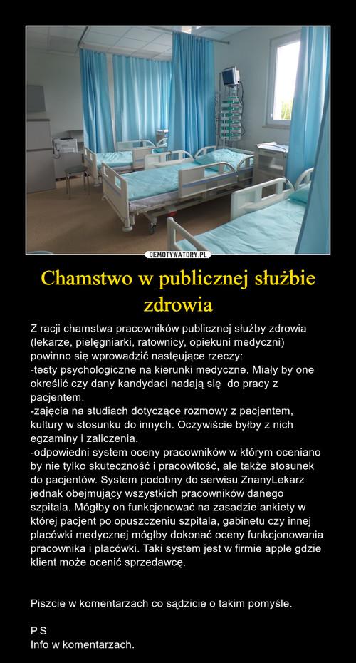 Chamstwo w publicznej służbie zdrowia