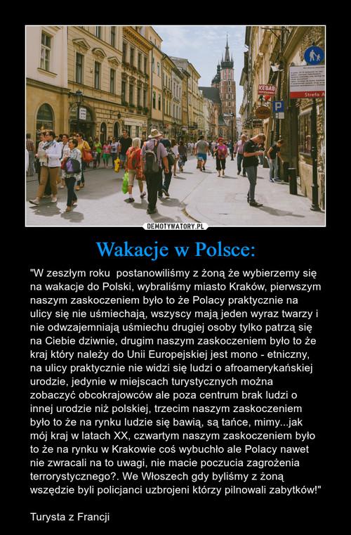 Wakacje w Polsce: