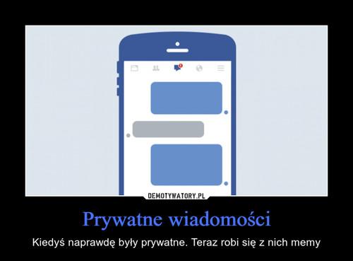 Prywatne wiadomości
