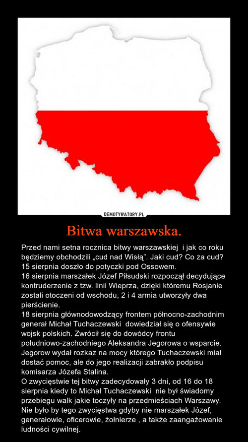 Bitwa warszawska.