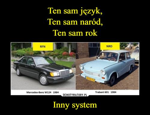 Ten sam język, Ten sam naród, Ten sam rok Inny system