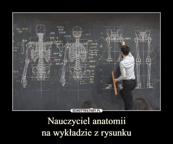 Nauczyciel anatomiina wykładzie z rysunku –