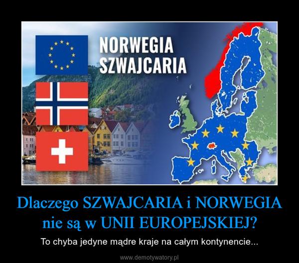 Dlaczego SZWAJCARIA i NORWEGIA nie są w UNII EUROPEJSKIEJ? – To chyba jedyne mądre kraje na całym kontynencie...