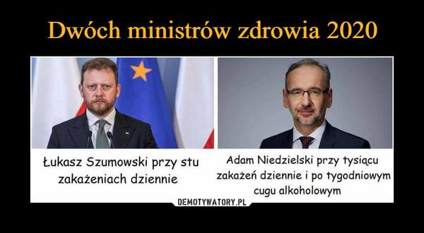 –  Łukasz Szumowski przy stu zakażeniach dziennie Adam Niedzielski przy tysiącu zakażeń dziennie i po tygodniowym cugu alkoholowym