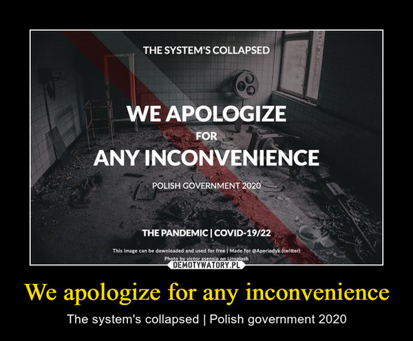 We apologize for any inconvenience – The system's collapsed | Polish government 2020