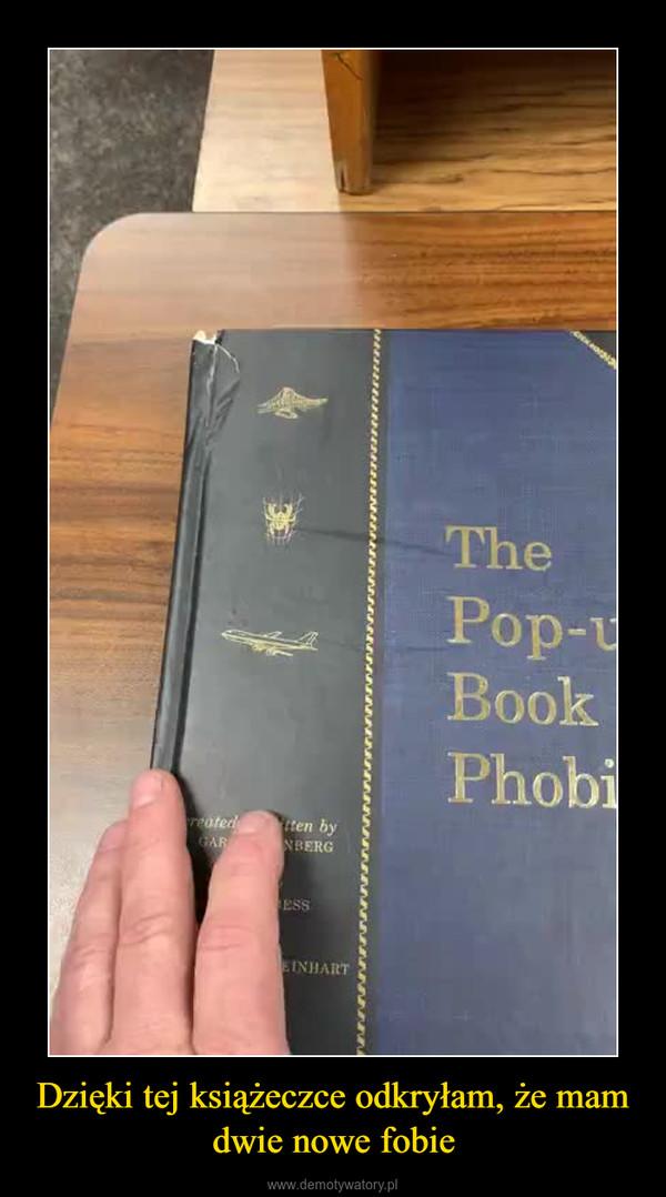 Dzięki tej książeczce odkryłam, że mam dwie nowe fobie –