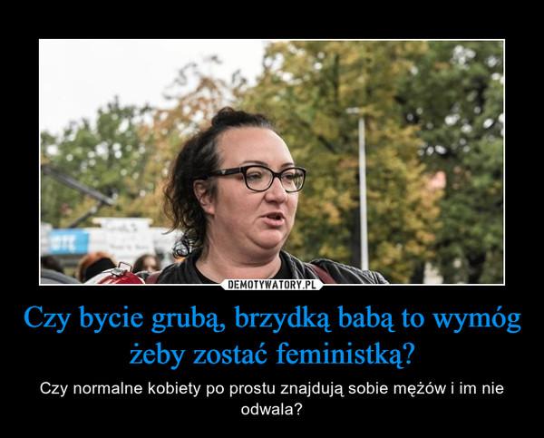 Czy bycie grubą, brzydką babą to wymóg żeby zostać feministką? – Czy normalne kobiety po prostu znajdują sobie mężów i im nie odwala?