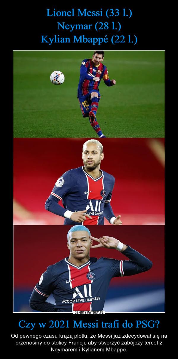 Czy w 2021 Messi trafi do PSG? – Od pewnego czasu krążą plotki, że Messi już zdecydował się na przenosiny do stolicy Francji, aby stworzyć zabójczy tercet z Neymarem i Kylianem Mbappe.