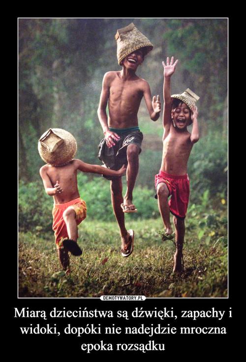 Miarą dzieciństwa są dźwięki, zapachy i widoki, dopóki nie nadejdzie mroczna epoka rozsądku