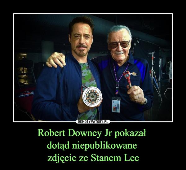Robert Downey Jr pokazał dotąd niepublikowane zdjęcie ze Stanem Lee –