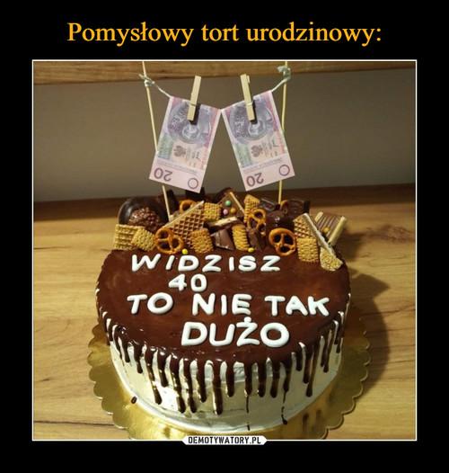 Pomysłowy tort urodzinowy: