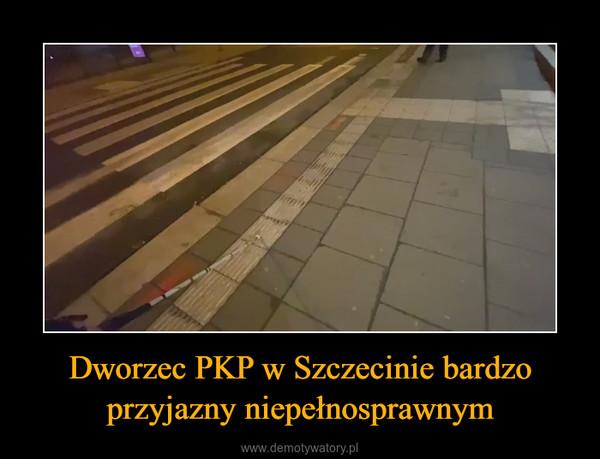 Dworzec PKP w Szczecinie bardzo przyjazny niepełnosprawnym –
