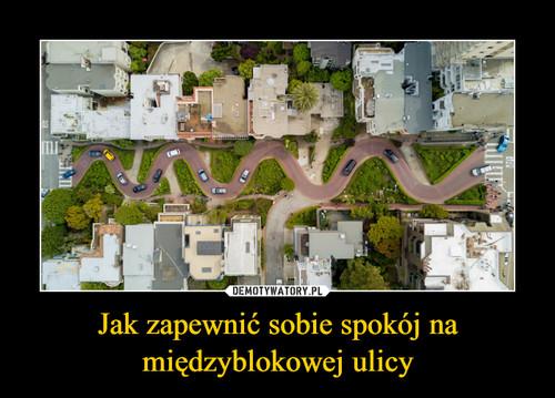 Jak zapewnić sobie spokój na międzyblokowej ulicy