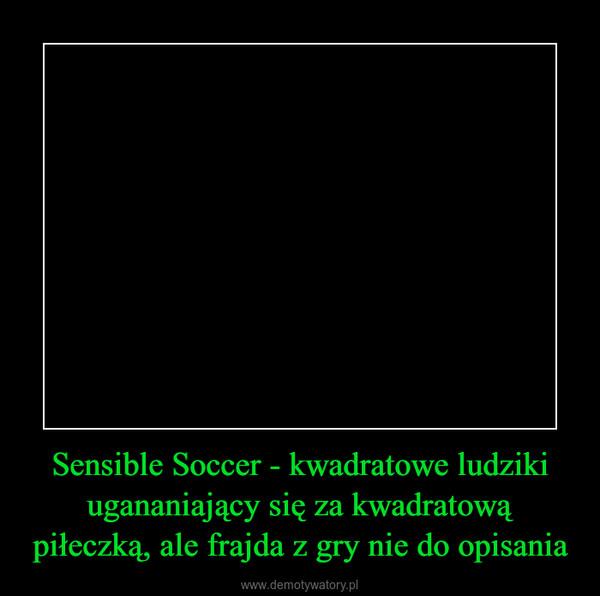 Sensible Soccer - kwadratowe ludziki ugananiający się za kwadratową piłeczką, ale frajda z gry nie do opisania –