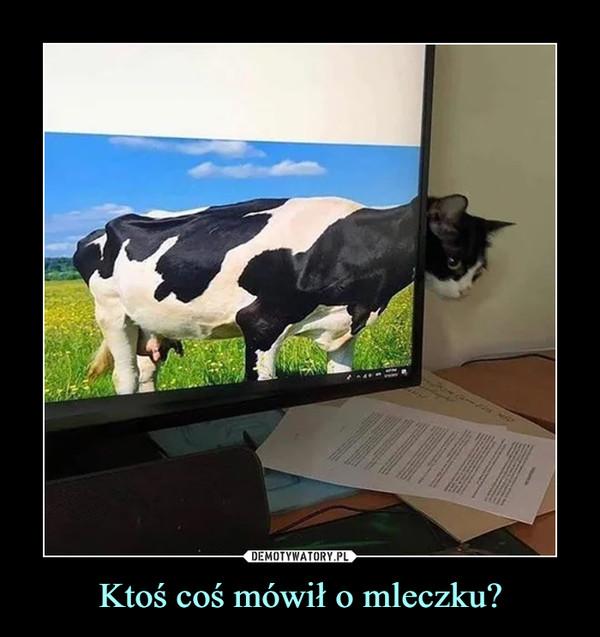 Ktoś coś mówił o mleczku? –