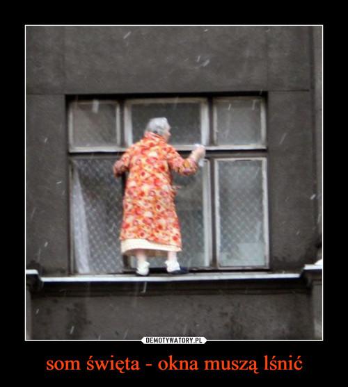 som święta - okna muszą lśnić