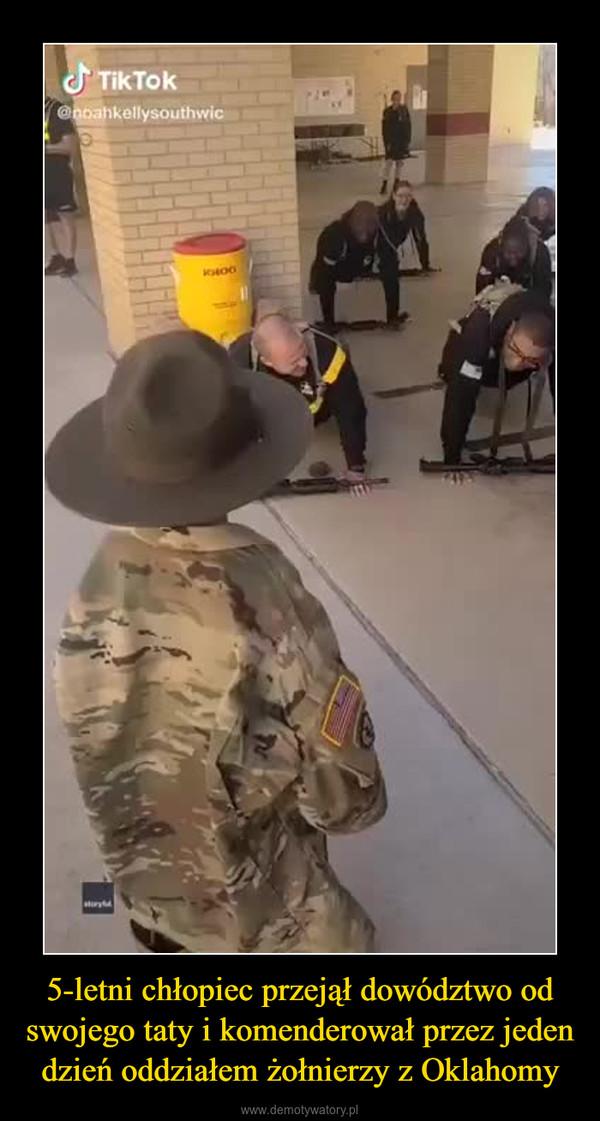 5-letni chłopiec przejął dowództwo od swojego taty i komenderował przez jeden dzień oddziałem żołnierzy z Oklahomy –