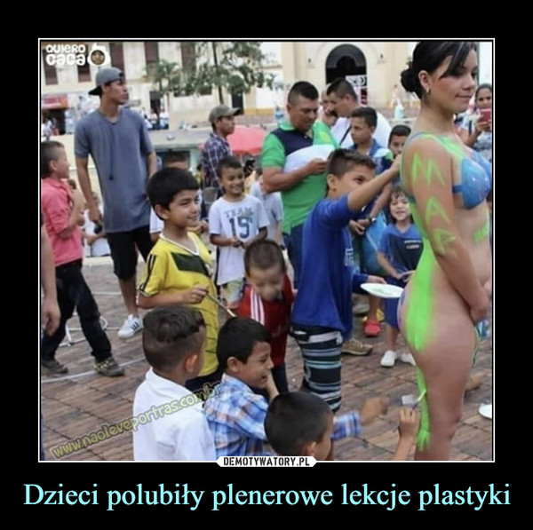 Dzieci polubiły plenerowe lekcje plastyki –