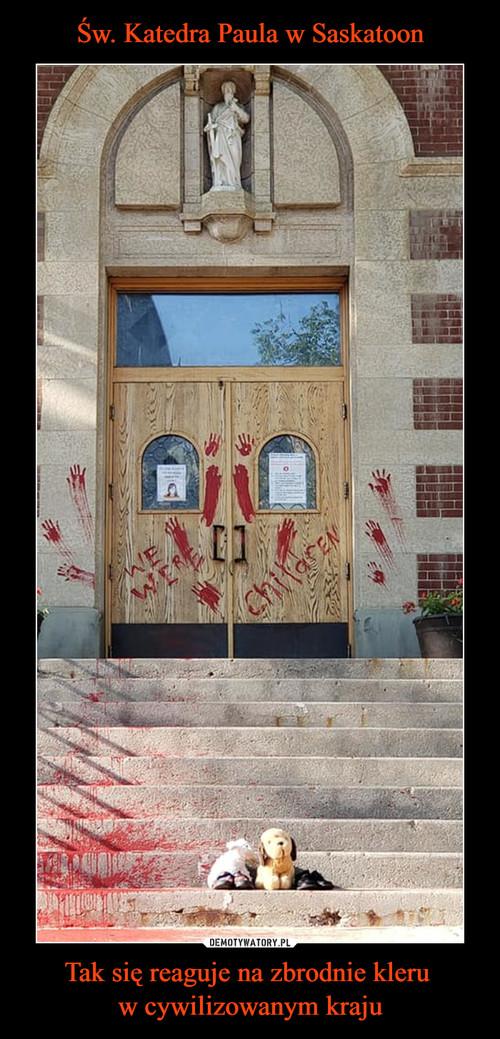 Św. Katedra Paula w Saskatoon Tak się reaguje na zbrodnie kleru  w cywilizowanym kraju
