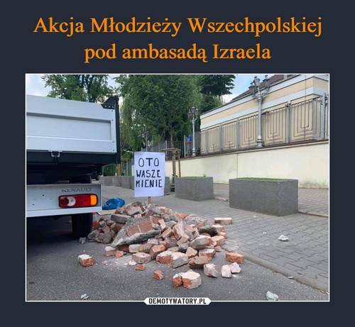 Akcja Młodzieży Wszechpolskiej pod ambasadą Izraela