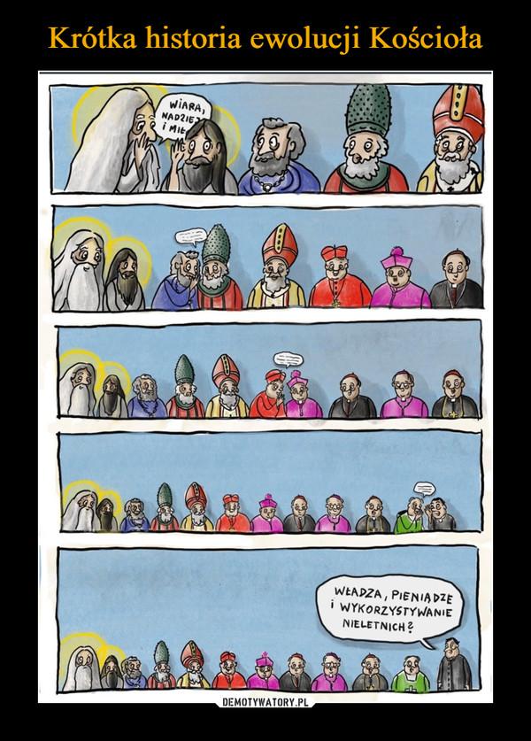 Krótka historia ewolucji Kościoła