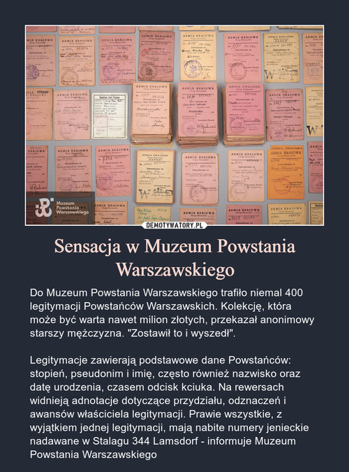 Sensacja w Muzeum Powstania Warszawskiego