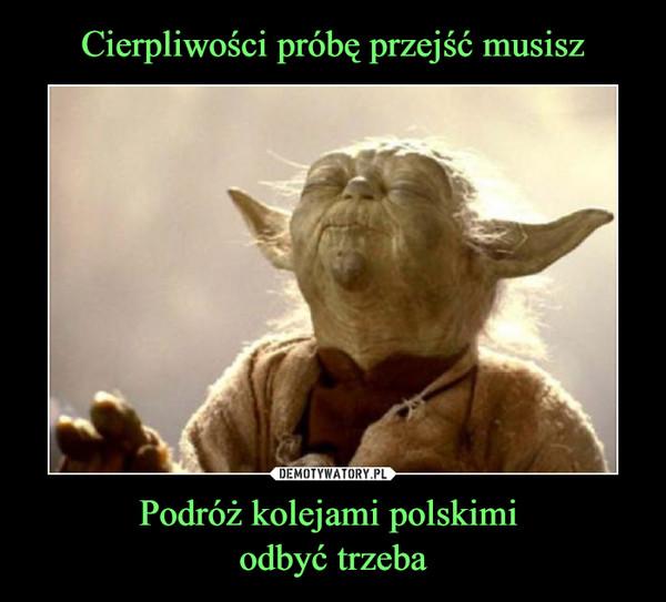 Podróż kolejami polskimi odbyć trzeba –