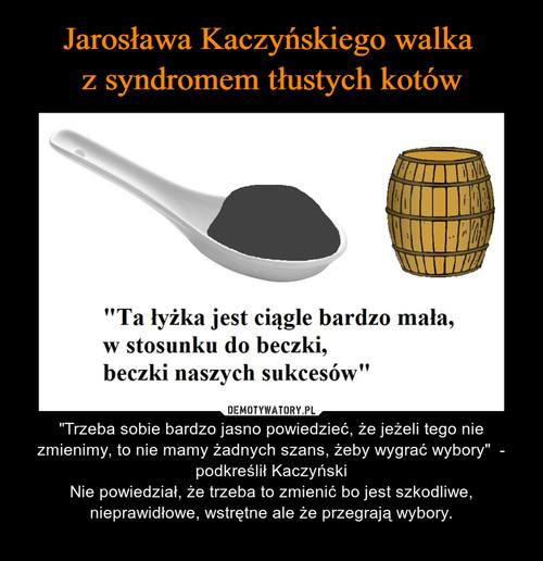 Jarosława Kaczyńskiego walka  z syndromem tłustych kotów