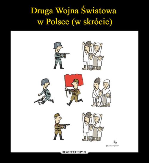 Druga Wojna Światowa  w Polsce (w skrócie)