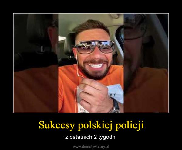 Sukcesy polskiej policji – z ostatnich 2 tygodni