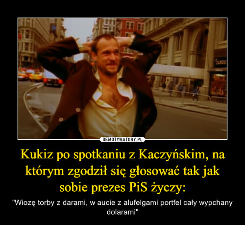 Kukiz po spotkaniu z Kaczyńskim, na którym zgodził się głosować tak jak sobie prezes PiS życzy: