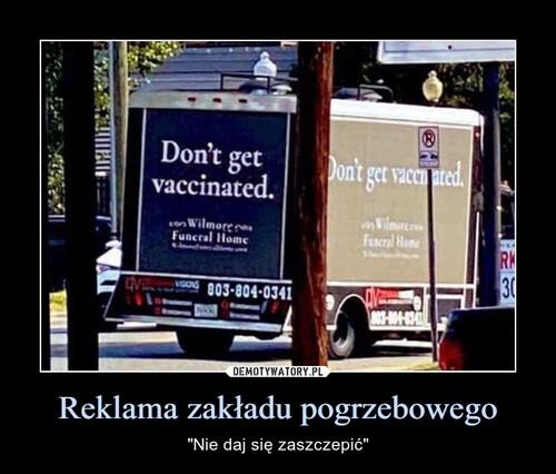 Reklama zakładu pogrzebowego