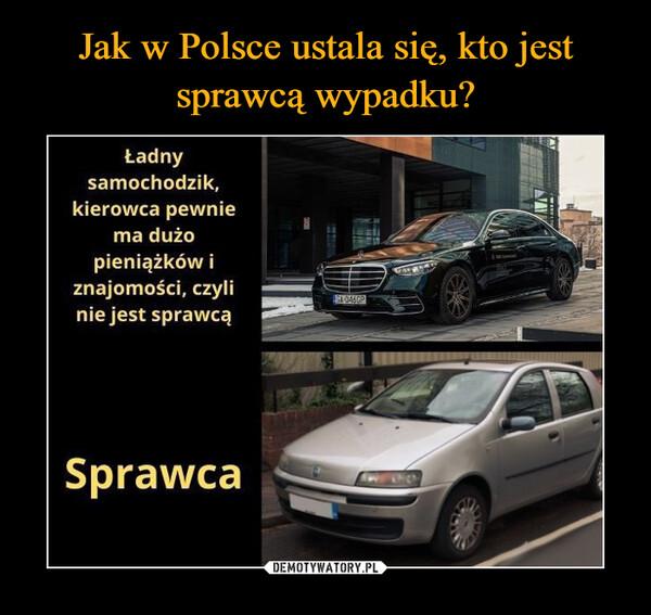 –  Ładny samochodzik, kierowca pewnie ma dużo pieniążków i znajomości, czyli nie jest sprawcą Sprawca