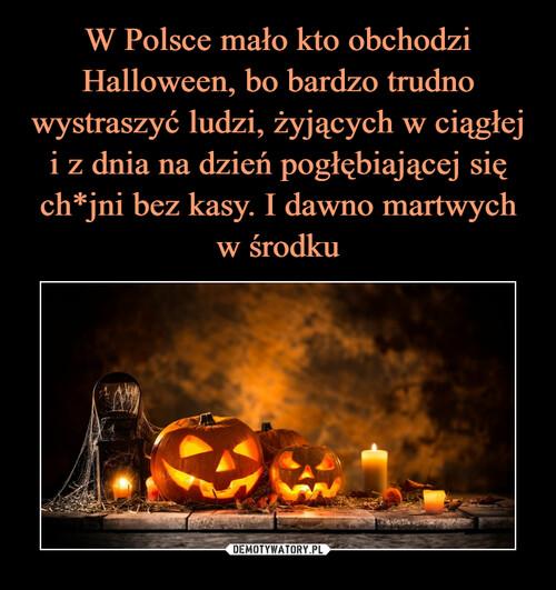 W Polsce mało kto obchodzi Halloween, bo bardzo trudno wystraszyć ludzi, żyjących w ciągłej i z dnia na dzień pogłębiającej się ch*jni bez kasy. I dawno martwych w środku
