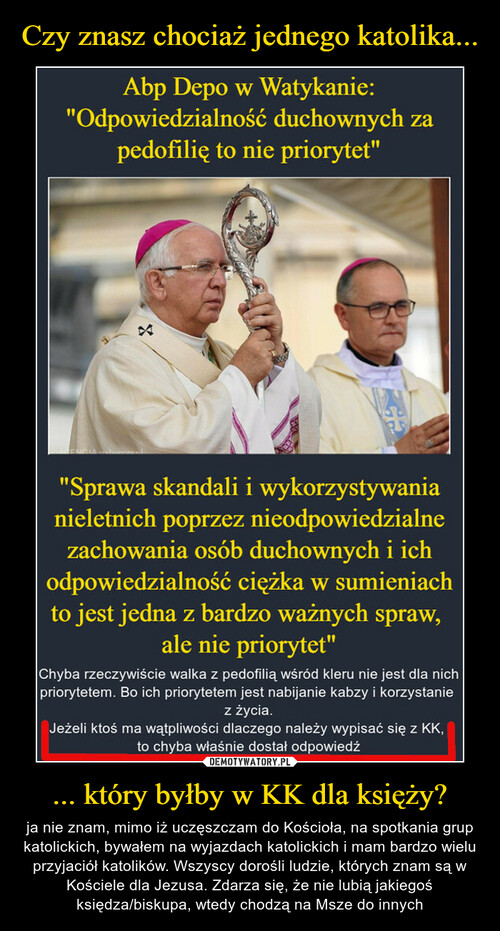 Czy znasz chociaż jednego katolika... ... który byłby w KK dla księży?